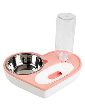 Water Dispenser & food bowl Pink 400 ml
