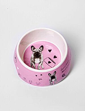 Bowl Pink Dog Print 18.2x18.2x7cm ( 700ml ) -  Dogs product
