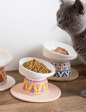 Ceramic Bowl Bohemian Orange 10.5*10.6*13.5 cm -  Dogs product