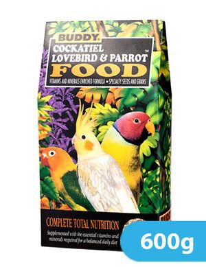 Buddy Cockatiel Lovebird & Parrot Food 600g
