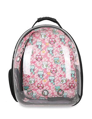 Backpack Pink Cat Print  40*23*32cm
