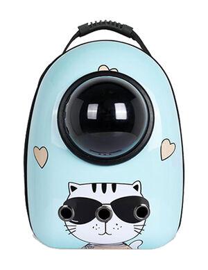 Backpack Blue Cat Print 40*23*32cm