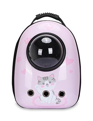 Backpack Pink Kitten Print 40*23*32cm
