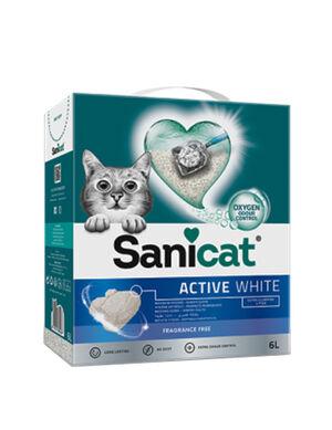 SaniCat Active White 6L Unscented