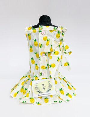 Pineapple Summer Dress White Large