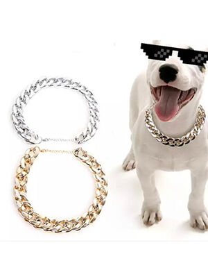 Pet Golden Necklace Adjustable 37cm -  Dogs product