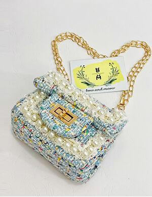 Pet Luxury Bag Blue & White