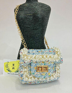 Pet Luxury Bag Blue & White -  Dogs product