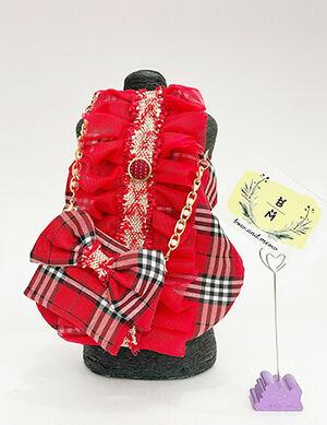 Early Eid Luxury Red Dress with Bag Medium