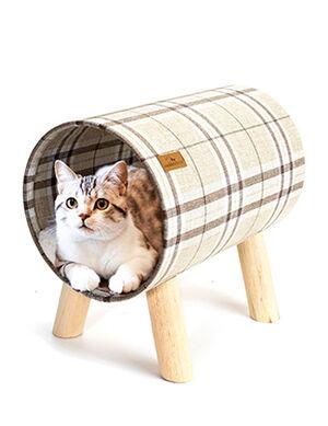 Cat Kennel Small Beige Striped 40*26*38