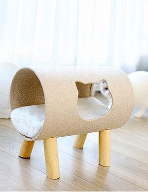 Cat Kennel Small Cream 40*26*38