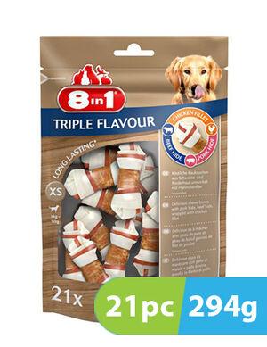 8in1 Triple Flavour XS 21 Bones x 294g