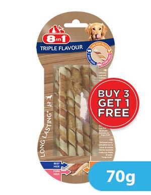 8in1 Triple Flavour twists 10 Sticks x 70g (3+1) Free