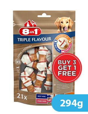 8in1 Triple Flavour XS 21 Bones x 294g (3+1) Free