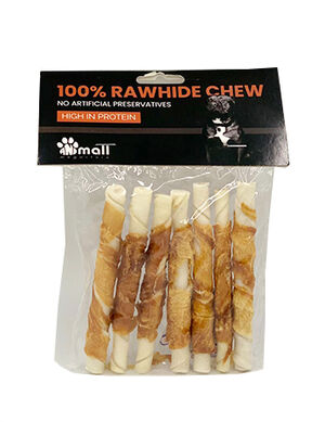 Chicken and Rawhide Twist Sticks 84gm