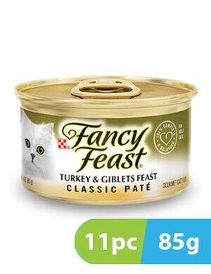 Purina Fancy Feast Classic Pate Turkey & Giblets 11pc x 85g