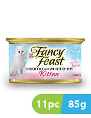 Purina Fancy Feast Kitten Classic Pate Tender Ocean Whitefish 11pc x 85g