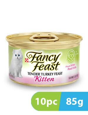 Purina Fancy Feast Kitten Classic Pate Tender Turkey 10pc x 85g