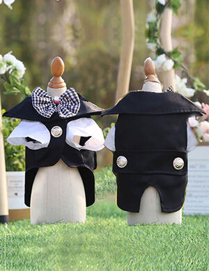 Tuxedo Suit Black & White Medium -  Dogs product