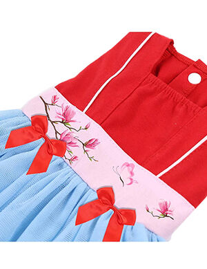 Princess Dress Red & Blue Large -  Dogs product