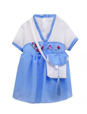 Hanfu Shiffon Blue & White Medium