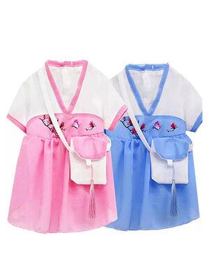 Hanfu Shiffon Pink & White Medium -  Dogs product