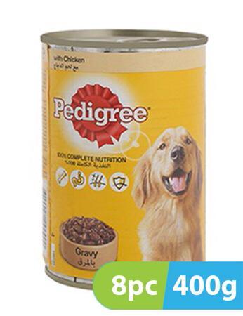 Pedigree Chicken Chunks in Gravy Dog Food 8 x 400g