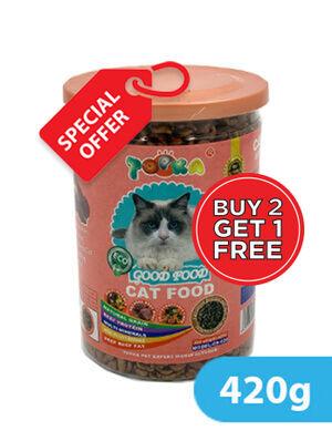 Siso Topka Good Food Cat Food Beef Flavor 420g 2+1 Free