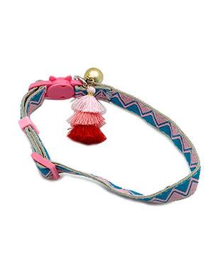 Collar Bohemian Pink/Blue Free Size