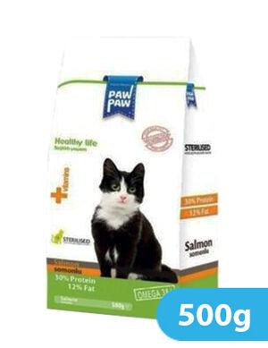 Paw Paw Adult Cat Food (Sterilised) Salmon 500g