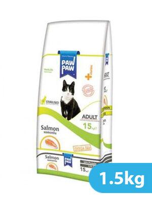 Paw Paw Adult Cat Food Sterilized Salmon 1.5kg