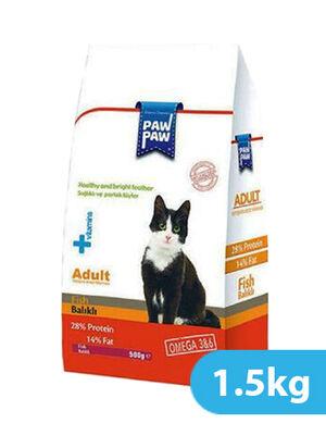 Paw Paw Adult Cat Food Fish 1.5kg
