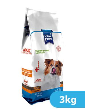 Paw Paw Adult Dog Food Beef 3kg