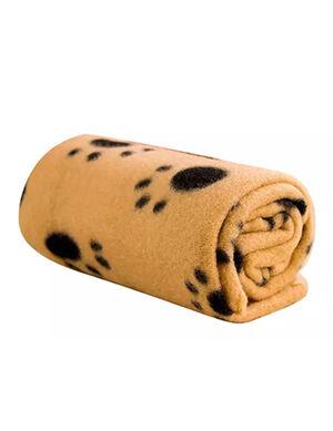 Brown Fleece Blanket for Pets 100 x 70cm