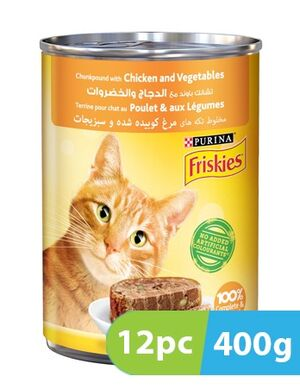 Purina Friskies Chunkpound with Chicken and Vegetables 12pc x 400g