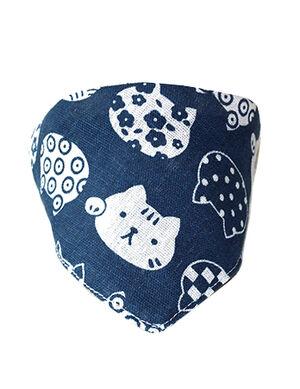 Bandanas Blue Cat Print Medium