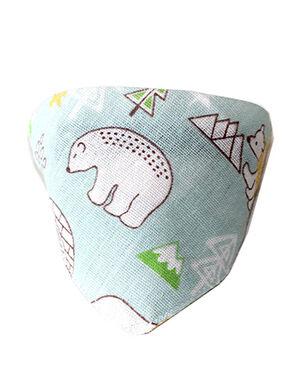 Bandanas Green Bear Print Medium