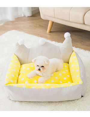 Beds Yellow & Beige Large