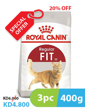 20% 3pc x 400g Royal Canin Regular Fit (SE)