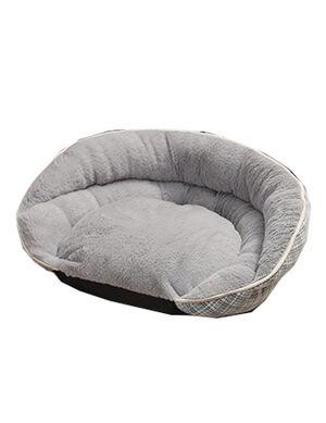 Rest Bed Grey Stripe Large