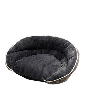 Rest Bed Dark Grey Stripe Large