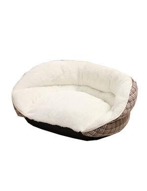 Rest Bed Beige Stripe Large