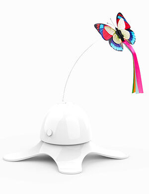 Electric Cat Toy White