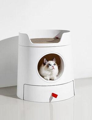 Exclusive Castle Litter Box White Large