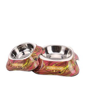 Maroon Super Dog Design Feeding