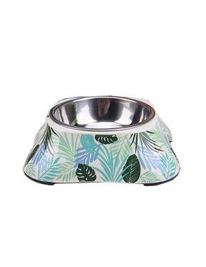 White Tropical Design Feeding Bowl