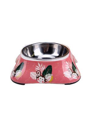 Pink Monkey Design Feeding Bowl