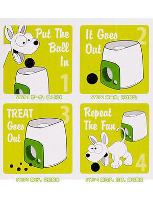 Dog Interactive Toy White -  Dogs product