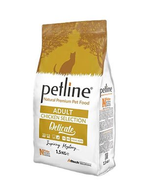 Petline Natural Premium Adult Cat Food With Chicken Selection Delicate 1.5kg