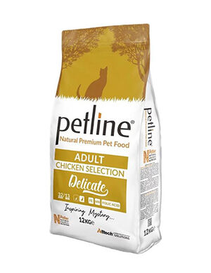 Petline Natural Premium Adult Cat Food With Chicken Selection Delicate 12kg